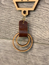 Load image into Gallery viewer, Wood and Leather Earring 1.25""