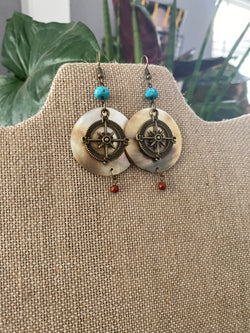 Health & Stability Compass Earrings