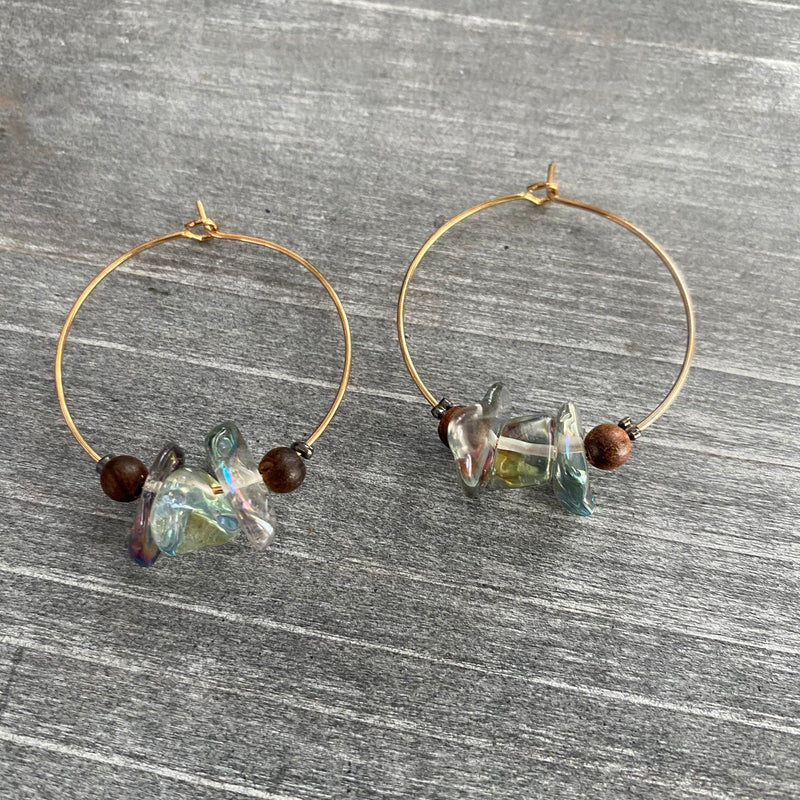Simple Crystal Hoop Earrings