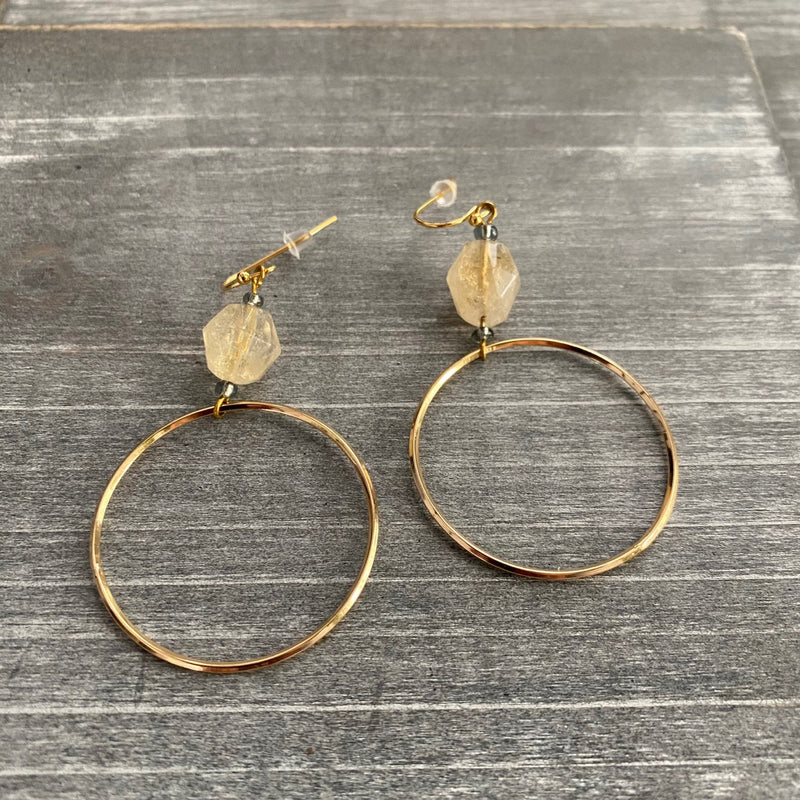 Raw Chunky Hoop Earrings