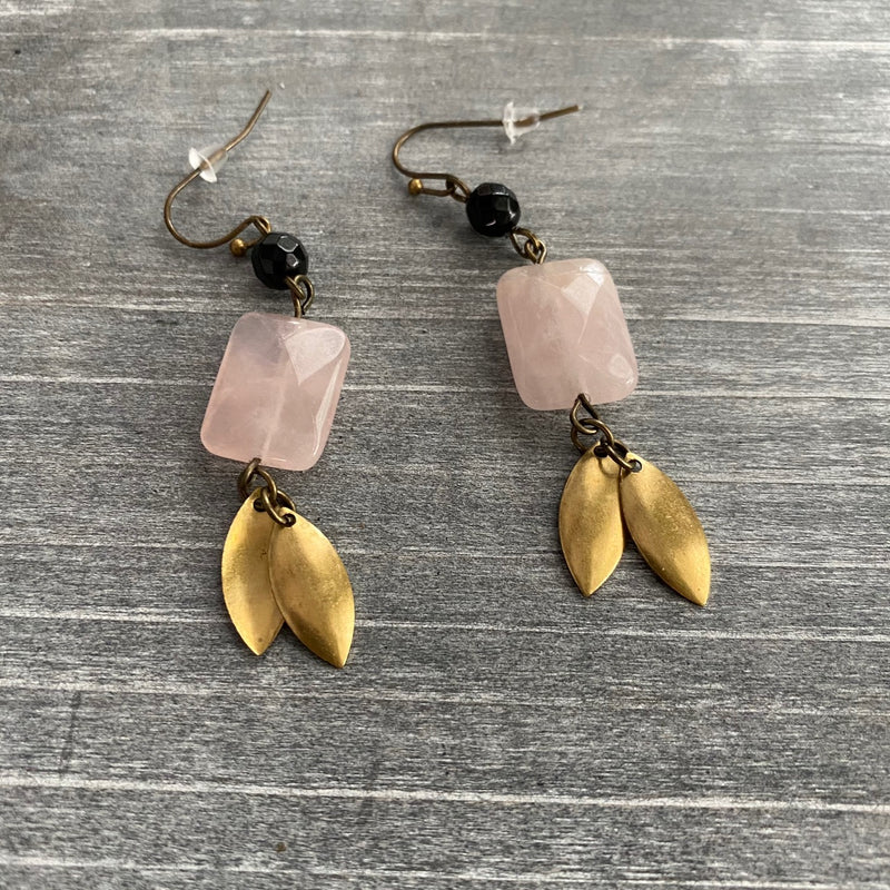 Abstract Love Leaf Earrings