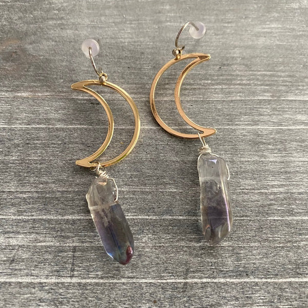 Over the Moon Mini Earrings