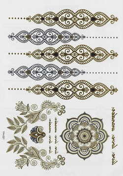 Temporary Body Tattoo - Metallic,Promo - 12th Summer