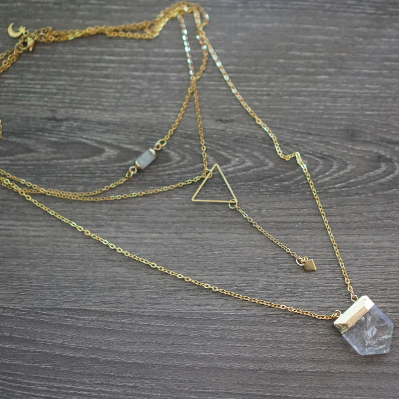 Clarity Manifestation Focus Necklace Gold