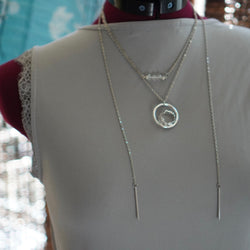 Clarity Manifestation Focus Necklace Silver