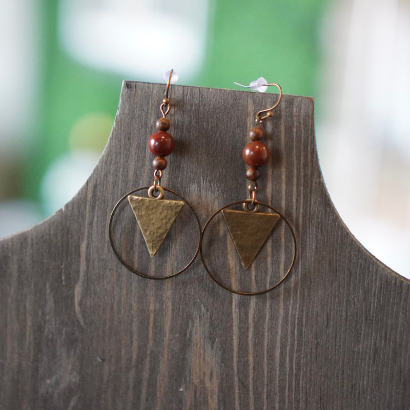 Hammered Geometry Earrings