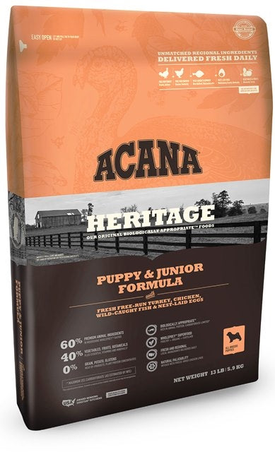 Acana Heritage Puppy & Junior Fomula Dog Food