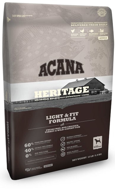 Acana Heritage Light & Fit Fomula Dog Food
