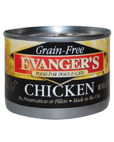 Evanger's Grain Free Chicken - 6 oz.