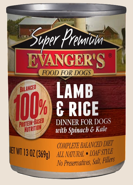 Evanger's Super Premium Lamb & Rice Dinner - 13 oz.