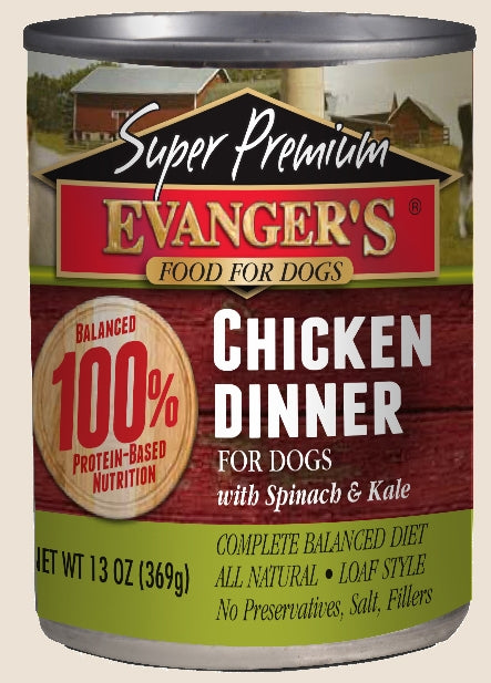 Evanger's Super Premium Chicken Dinner for Dogs - 13 oz.