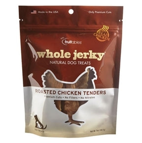 Fruitables Whole Jerky Natural Dog Treats - Roasted Chicken Tenders - 5 oz.