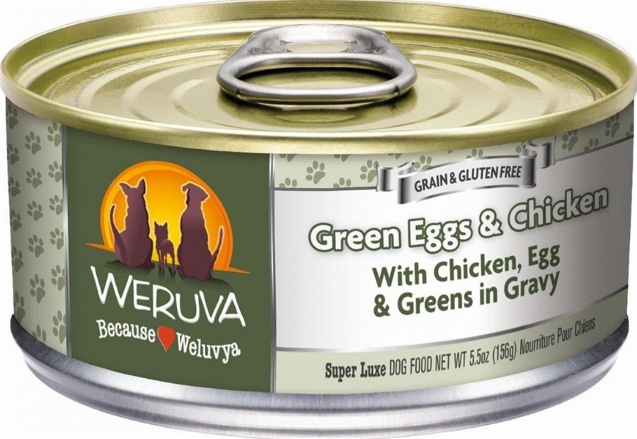 Weruva Green Eggs and Chicken for Dogs- 5.5 oz.