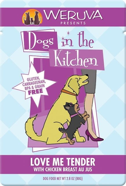 Weruva Dogs in the Kitchen LOVE ME TENDER - 2.8 oz. Pouch