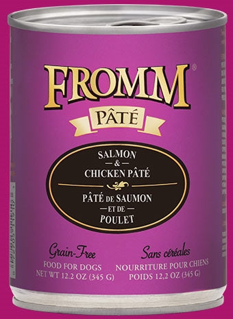 Fromm Gold Salmon & Chicken Pate Dog Food - 12.2 oz
