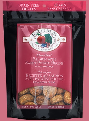 Fromm Grain Free Salmon with Sweet Potato Recipe Treats for Dogs - 8 oz.