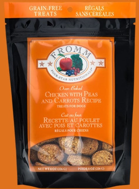 Fromm Grain Free Chicken with Peas and Carrots Recipe Treats for Dogs - 8 oz.