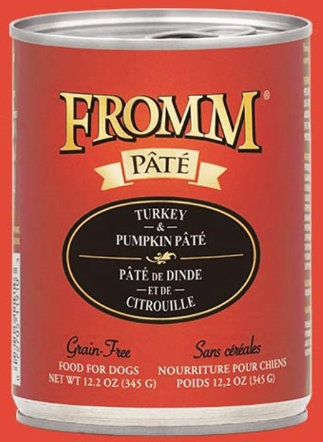Fromm Turkey & Pumpkin Pate Dog Food - 12.2 oz