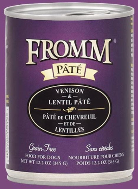 Fromm Venison & Lentil Pate Dog Food - 12.2 oz