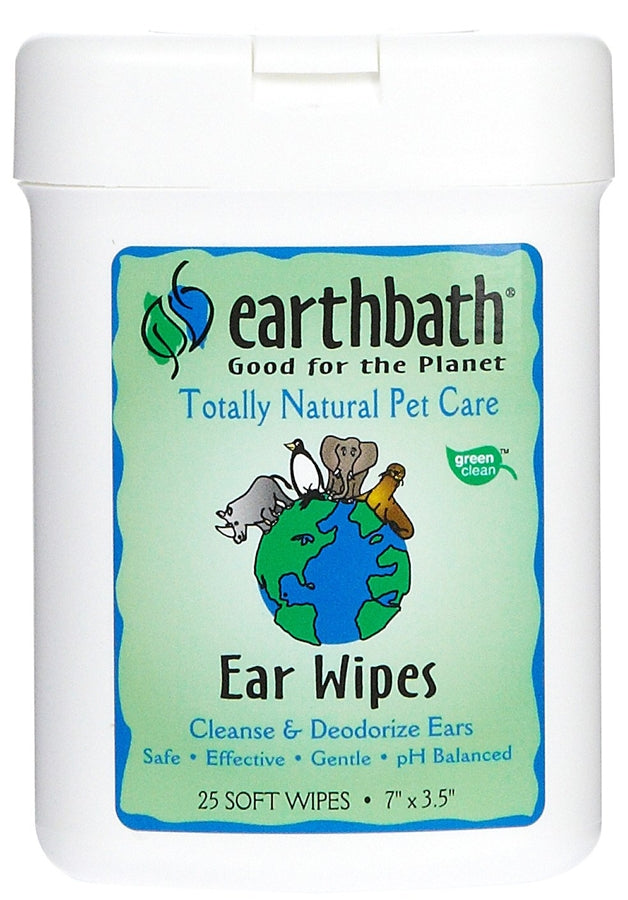 Earthbath Ear Wipes for Dogs- 25 wipes