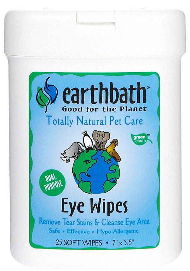Earthbath Eye Wipes for Dogs - 25 wipes