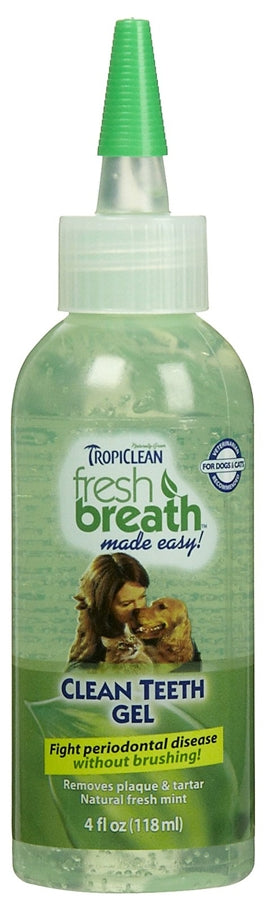 Tropiclean Fresh Breath Clean Teeth Gel - 4f l oz