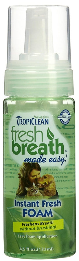 Tropiclean Fresh Breath Instant Fresh Foam - 4.5 fl oz
