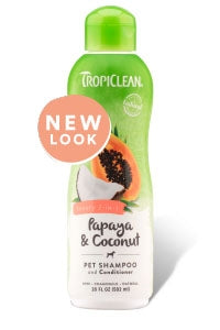 Tropiclean Papaya & Coconut Pet Shampoo and Conditioner - 20 fl oz
