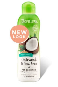 Tropiclean Medicated Oatmeal & Tea Tree Pet Shampoo - 20 fl oz