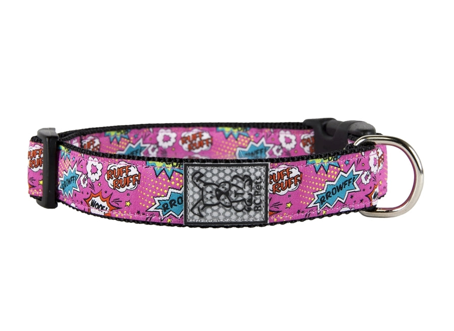 RC Pet Pink Comic Sounds Clip Collar