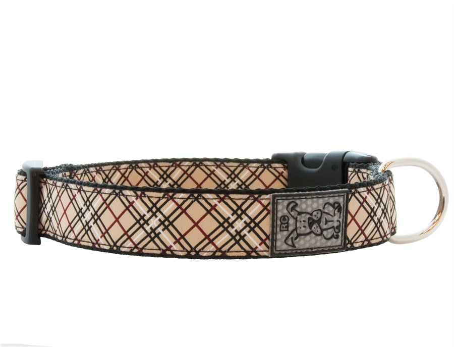 RC Pet Tan Tartan Clip Collar