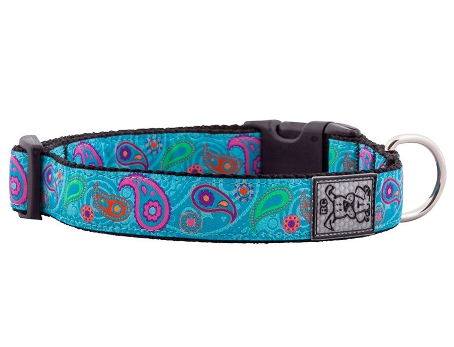 "RC Pet Tropical Paisley Clip Collar - Large (15""-25"") Wide 1.5"""