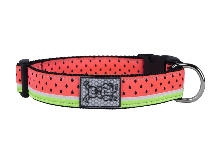 "RC Pet Watermelon Clip Collar - Large (15""-25"") Wide 1.5"""