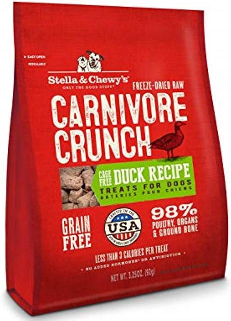 Stella & Chewy's Carnivore Crunch Cage-Free Duck Recipe Dog Treats - 3.25 oz,treat
