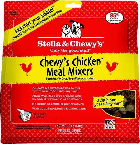 Stella & Chewy's Freeze Dried Chicken Meal Mixers for Dogs