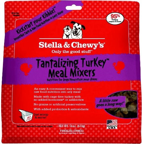 Stella & Chewy's Freeze Dried Tantalizing Turkey Meal Mixers for Dogs