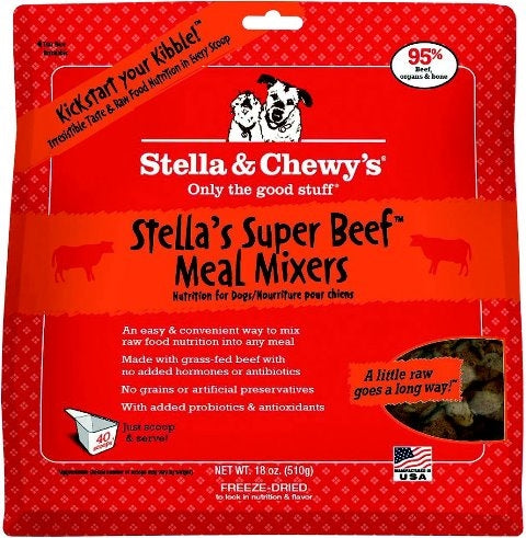 Stella & Chewy's Freeze Dried Super Beef Meal Mixers for Dogs