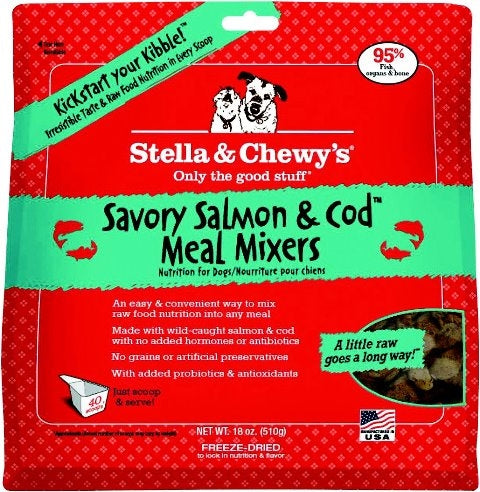 Stella & Chewy's Freeze Dried Savory Salmon & Cod Meal Mixers for Dogs