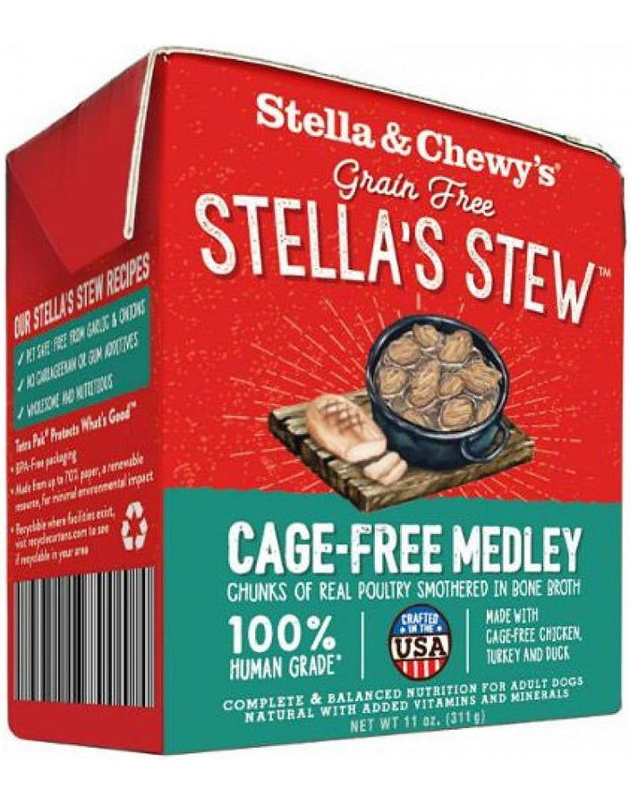 Stella & Chewy's Grain Free Stella's Stew Cage-Free Medley Recipe for Dogs - 11 oz.
