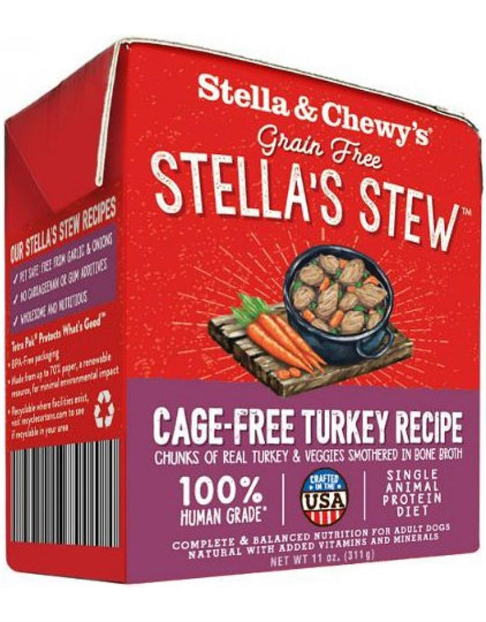 Stella & Chewy's Grain Free Stella's Stew Cage-Free Turkey Recipe for Dogs - 11 oz.