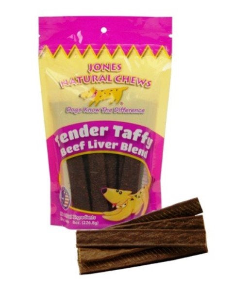 Jones Gourmet Dog Chews Tender Taffy Beef Liver Blend - 2.5 oz.