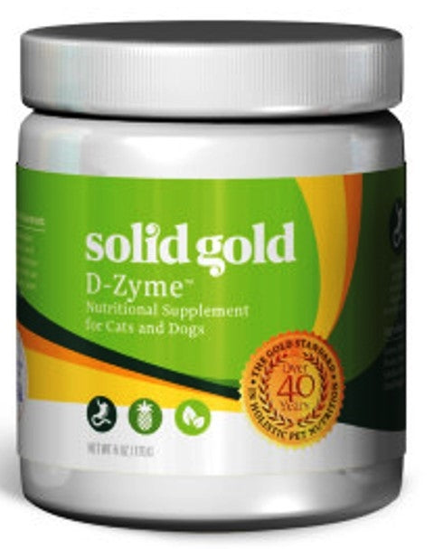 Solid Gold D-Zyme Powder Nutritional Supplement for Dogs & Cats - 6 oz