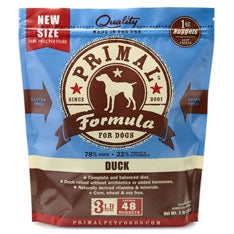 Primal Frozen Raw Canine Duck Formula Nuggets - 3 lbs