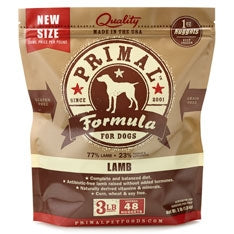 Primal Frozen Raw Canine Lamb Formula Nuggets - 3 lbs