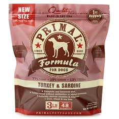 Primal Frozen Raw Canine Turkey & Sardine Formula Nuggets - 3 lbs