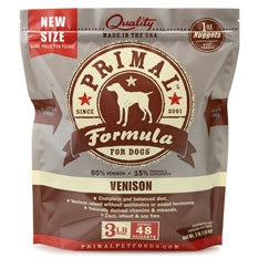 Primal Frozen Raw Canine Venison Formula Nuggets - 3 lbs