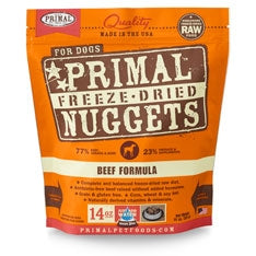 Primal Freeze Dried Nuggets Beef Formula Dog Food