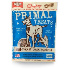 Primal Turkey Liver Munchies Dog Treats 2 oz