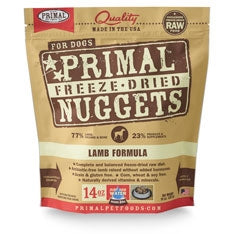 Primal Freeze Dried Nuggets Lamb Formula Dog Food