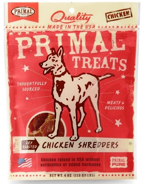 Primal Dry Roasted Chicken Shredders Dog Treats - 4.0 oz